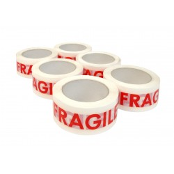 6 ROULEAUX ADHESIF FRAGILE