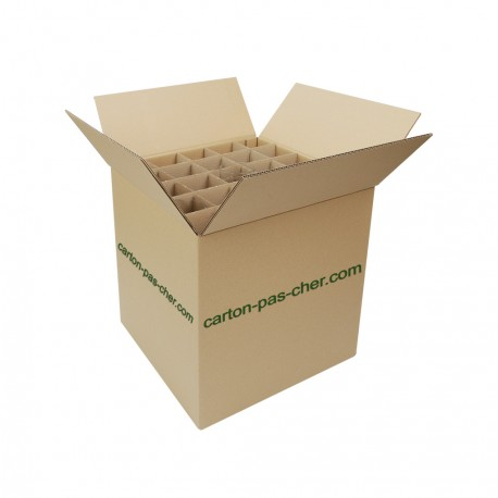 25 CARTONS DEMENAGEMENT CROISILLON 75 VERRES
