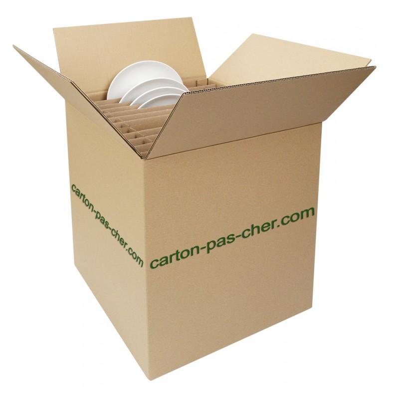 carton demenagement croisillon 24 assiettes qualit prix carton pas. Black Bedroom Furniture Sets. Home Design Ideas